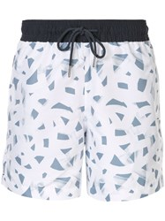 Venroy All Over Print Swim Shorts White