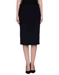 Theyskens' Theory 3 4 Length Skirts Dark Blue