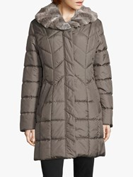 Betty Barclay Quilted Coat Earth Grey