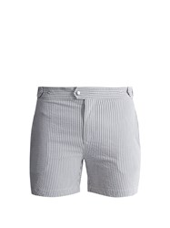 Solid And Striped The Kennedy Seersucker Swim Shorts Navy