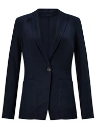 Jigsaw Louisiana Linen Jacket Navy