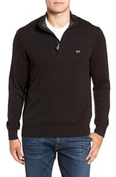 Vineyard Vines Palm Beach Quarter Zip Sweater Jet Black