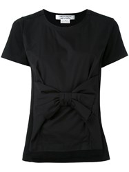 Comme Des Garcons Bow Front T Shirt Women Cotton S Black