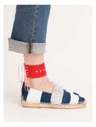 Licia Florio Laces Ankle Cuff Red Neutral