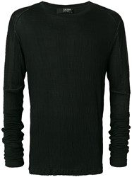 Tom Rebl Long Sleeved T Shirt Black