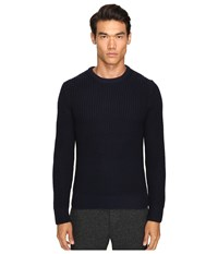 Todd Snyder Heavy Stitch Garment Dyed Merino Crew Sweater Navy Men's Sweater