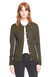 Marc By Marc Jacobs 'Holly' Cardigan Sweater Kelp Green Multi