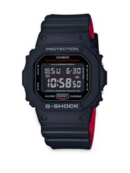 G Shock Square Resin Strap Watch Black