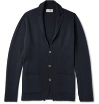 John Smedley Medley Oxland Lim Fit New Wool Cardigan Navy