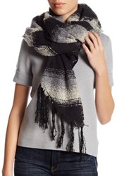 Collection Xiix Ombre Stripe Runway Wrap Black
