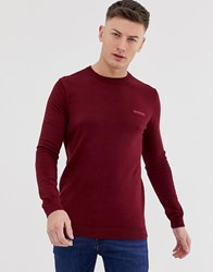 Lambretta Knitted Jumper In 100 Cotton Red
