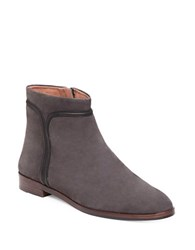Louise Et Cie Zakiria Piped Leather And Suede Ankle Boots Grey