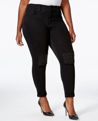 Melissa Mccarthy Seven7 Trendy Plus Size Embellished Theritz Wash Skinny Jeans