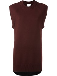 Dkny Pure Sleeveless Jumper Red