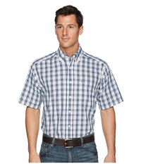 Ariat Canyon Trails Penley Plaid Shirt White Short Sleeve Button Up