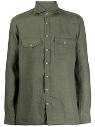 Barba Chest Pocket Shirt Green