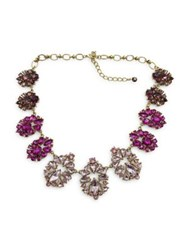 Belle By Badgley Mischka Pink Ombre Stone Cluster Necklace