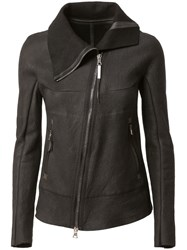 Isaac Sellam Experience Off Centre Zip Jacket Black