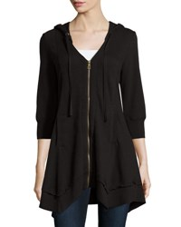 Xcvi Mercantile Lightweight Knit Jacket Black