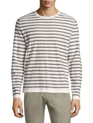 Theory Lebor Cashmere Sweater White Multicolor