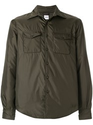 Aspesi Military Style Fitted Jacket Polyamide Polyester Green