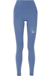 Lucas Hugh Technical Stretch Knit Leggings Blue