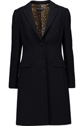 Dolce And Gabbana Wool Blend Coat Midnight Blue