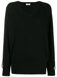 Liu Jo V Neck Jumper Black