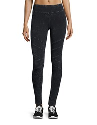 Marc New York Faded Seamed Leggings Black