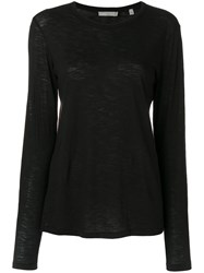 Vince Classic Fitted Sweater Women Cotton S Black