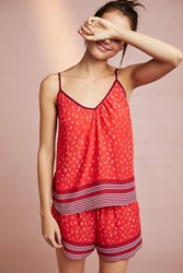 Floreat Frances Sleep Cami Red Motif