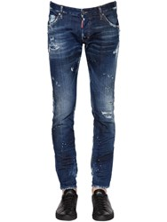 Dsquared 16.5Cm Clement Distressed Stretch Denim