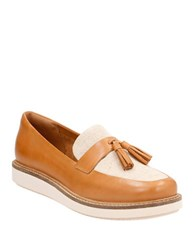 Clarks Glick Castine Leather Loafers Light Tan