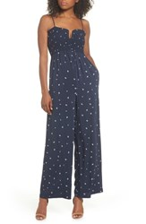 Knot Sisters West Floral Jumpsuit Navy Dainty Ditsy