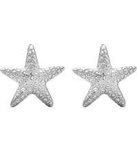 Theo Fennell White Gold Starfish Stud Earrings