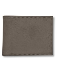 Buxton Wallet Baja Rfid Blocking Faux Leather Billfold Grey