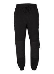 Topman Aaa Black Lace Up Casual Pants