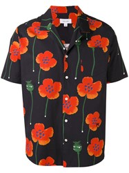 Soulland Juice Poppy Print Shirt Black