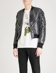 The Soloist Flag Patch Shell Bomber Jacket Black