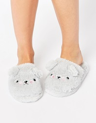 Asos Nelson Grumpy Ted Slippers Grey