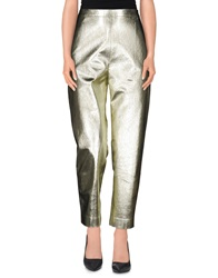 Msgm Casual Pants Gold