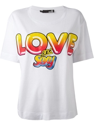 Love Moschino Love And Sexy Print T Shirt White