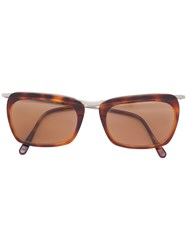 Romeo Gigli Vintage Marble Effect Sunglasses Brown