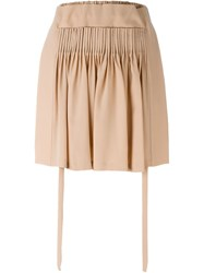 No21 Ruched Panel Pleated Detail Short Shorts Pink And Purple