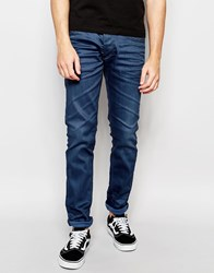 Jack And Jones Jack And Jones Blue Jeans In Slim Fit With Stretch Blue
