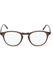 Garrett Leight Hampton Round Optical Glasses Brown