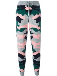 Chinti And Parker Camouflage Intarsia Track Pants Grey