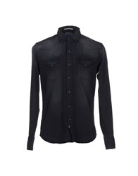 Replay Denim Denim Shirts Men Black