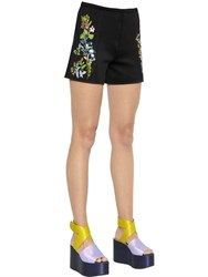 Clover Canyon Floral Embellished Neoprene Shorts
