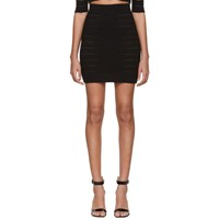 Balmain Black Medical Stripe High Waisted Miniskirt